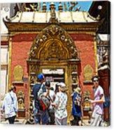 Doorway In Bhaktapur Durbar Square In Bhaktapur-nepal Acrylic Print