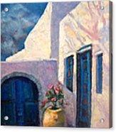 Doorway_greece Acrylic Print