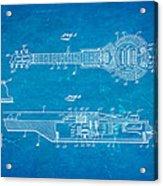 Dopyera Dobro Hawaiian Lap Steel Guitar Patent Art 1939 Blueprint Acrylic Print