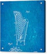 Dopyera Harp Patent Art 1930 Blueprint Acrylic Print
