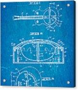 Dopyera Resonator Guitar Patent Art 1936 Blueprint Acrylic Print