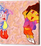 Dora And Boots Acrylic Print by George Rossidis