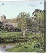 Dorchester Abbey, Near Wallingford, Autumn Evening Acrylic Print