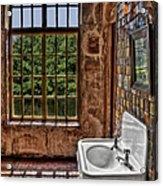 Dorm Bathroom Side View Acrylic Print