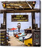 Dory Fishing Fleet Market Newport Beach California Acrylic Print by Paul Velgos