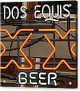 Dos Equis Texxas Beer Acrylic Print