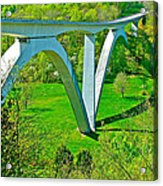 Double-arched Bridge Spanning Birdsong Hollow At Mile 438 Of Natchez Trace Parkway-tennessee Acrylic Print
