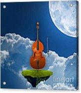 Double Bass Acrylic Print
