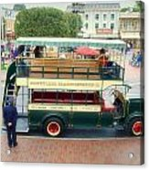 Double Decker Bus Main Street Disneyland 02 Acrylic Print