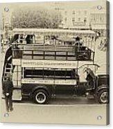 Double Decker Bus Main Street Disneyland Heirloom Acrylic Print