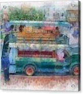 Double Decker Bus Main Street Disneyland Photo Art 01 Acrylic Print