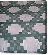 Double Irish Chain Quilt Acrylic Print