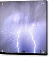 Double Lightning Strike Harmony Acrylic Print