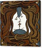 Double Medusa Illustration Panel Acrylic Print