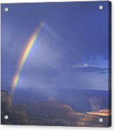 Double Rainbow At Cape Royal Grand Canyon National Park Acrylic Print
