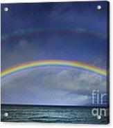 Double Rainbow Over Lake Tahoe Acrylic Print