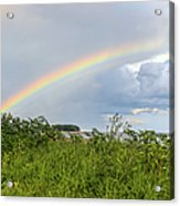 Double Rainbow Sheffield Island Acrylic Print