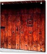 Double Studded Wood Doors Acrylic Print