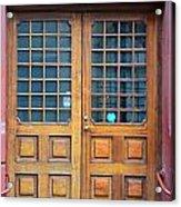 Double Wood Door Iceland Acrylic Print