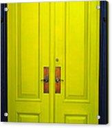 Double Yellow Doors Acrylic Print