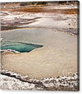 Doublet Pool In Upper Geyser Basin In Yellowstone National Park Acrylic Print