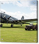 Douglas C-47a Skytrain Ready For D-day Acrylic Print