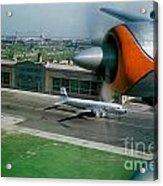 Douglas Dc-7 Taking Off Acrylic Print by Wernher Krutein