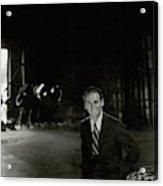 Douglas Fairbanks Jr On A Film Set Acrylic Print