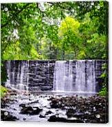 Dove Lake Waterfall At Gladwyne Acrylic Print