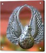 Garden Dove Of Peace Sculpture Acrylic Print