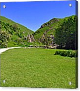 Dovedale - Stepping Stones Area Acrylic Print
