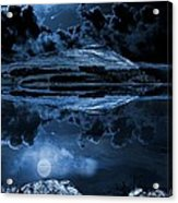 Dovestones Night Sky Acrylic Print