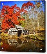 Down By The Old Mill Stream  Acrylic Print by Lynn Bauer