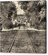 Down By The Tracks - Aged Acrylic Print