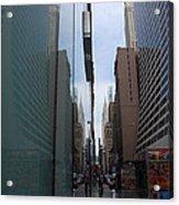 Down E 43rd Street N Y C Acrylic Print