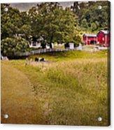 Down On The Farm Acrylic Print by Bill Wakeley