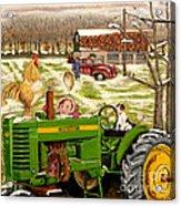 Down On The Farm Acrylic Print by Chris Dreher
