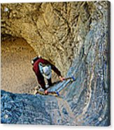 Down The Ladder In Big Painted Canyon Trail In Mecca Hills-ca  Acrylic Print