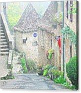 Down The Lane In St Cirq Lapopie Acrylic Print
