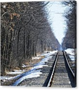 Down The Rails Acrylic Print