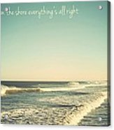 Down The Shore Seaside Heights Vintage Quote Acrylic Print