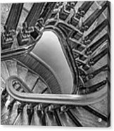 Down The Side - Bw Acrylic Print