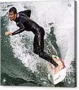 Down The Wave Slope Acrylic Print