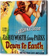 Down To Earth, Us Poster Art, From Left Acrylic Print