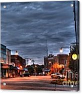 Down Town Granite Falls At Six Thirty In The Morning Acrylic Print by Robert Loe