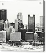 Cold Winter Day In Pittsburgh Pennsylvania Acrylic Print