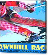 Downhill Racer Acrylic Print by Michael Moore