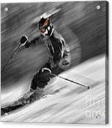Downhill Skier  Acrylic Print