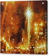 Downtown 6th St Seattle In Dec Acrylic Print