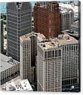 Downtown Aerial Of Detroit Michigan Acrylic Print